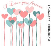 happy valentine's day greeting... | Shutterstock . vector #173995475