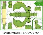 cut paper 3d a dinosaur. diy... | Shutterstock .eps vector #1739977754
