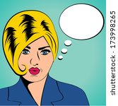cute retro woman in comics...   Shutterstock .eps vector #173998265