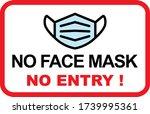 no face mask no entry sign.... | Shutterstock .eps vector #1739995361