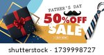 happy fathers day sale 50  off...   Shutterstock .eps vector #1739998727