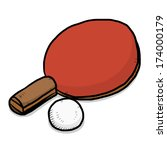 table tennis or ping pong bat... | Shutterstock .eps vector #174000179