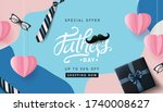happy fathers day sale 50  off... | Shutterstock .eps vector #1740008627