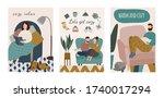 cozy and warm home   cartoon...   Shutterstock .eps vector #1740017294