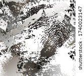 splatter brush stroke surface.... | Shutterstock .eps vector #1740023147