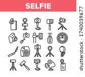 selfie photo camera collection... | Shutterstock .eps vector #1740039677