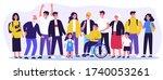 diverse community members...   Shutterstock .eps vector #1740053261