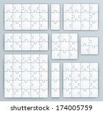 Jigsaw Puzzle Templates. Set O...