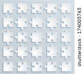 parts puzzles. paper square...