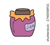 jar of jam icon. simple outline ...