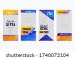 social media fashion sale story ... | Shutterstock .eps vector #1740072104