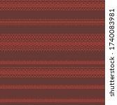 african bohemian pattern in...   Shutterstock .eps vector #1740083981