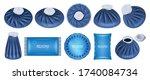 bag ice vector realistic set... | Shutterstock .eps vector #1740084734