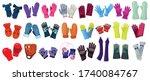 glove isolated cartoon set icon.... | Shutterstock .eps vector #1740084767
