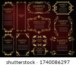 decorative ruled vintage frame ... | Shutterstock .eps vector #1740086297