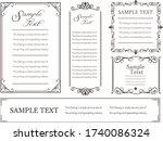 decorative ruled vintage frame ... | Shutterstock .eps vector #1740086324