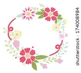 flower frame. designed for... | Shutterstock .eps vector #174008984