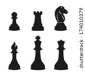 chess pieces | Shutterstock .eps vector #174010379