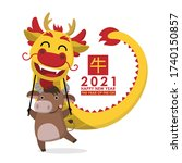 happy chinese new year greeting ... | Shutterstock .eps vector #1740150857