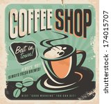 Retro Poster For Coffee Shop On ...