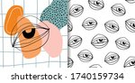 abstract set with two different ... | Shutterstock .eps vector #1740159734
