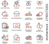 vector set of linear icons... | Shutterstock .eps vector #1740173201