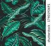 tropical leaves  monstera and... | Shutterstock .eps vector #1740193691