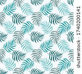 seamless pattern tropical plant.... | Shutterstock .eps vector #1740200141