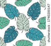 seamless pattern tropical plant.... | Shutterstock .eps vector #1740200147