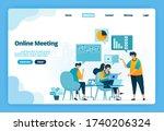 landing page of online meeting. ...