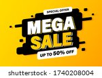 mega sale banner  special offer ... | Shutterstock .eps vector #1740208004