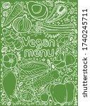 vector illustration vegan menu...   Shutterstock .eps vector #1740245711