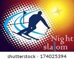 night slalom | Shutterstock .eps vector #174025394