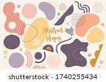 trendy abstract hand drawn set... | Shutterstock .eps vector #1740255434