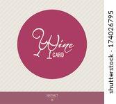 wine menu design template  ... | Shutterstock .eps vector #174026795