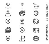 location line icon pack. pin...