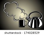 teapot and cup | Shutterstock . vector #174028529