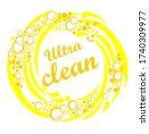 ultra clean. soap design...   Shutterstock .eps vector #1740309977