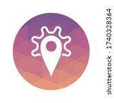 pin maps icon vector... | Shutterstock .eps vector #1740328364
