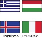 1st country is greece. 2nd... | Shutterstock .eps vector #1740330554