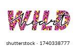 vector illustration with wild...   Shutterstock .eps vector #1740338777