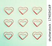 heart clip and vintage envelopes   Shutterstock . vector #174034169