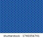 seamless vector pattern of blue ... | Shutterstock .eps vector #1740356741
