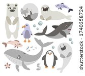 Vector Set Of Arctic And...