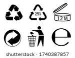 recycling vector character set. ... | Shutterstock .eps vector #1740387857