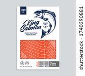 vector alaskan king salmon...   Shutterstock .eps vector #1740390881