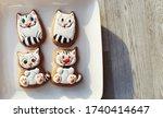 Cute Sweet Cookies Gingerbread...