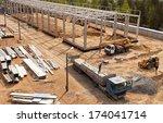 modern high tech factory... | Shutterstock . vector #174041714