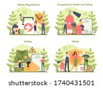 osha concept set. occupational... | Shutterstock .eps vector #1740431501