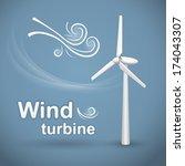 wind turbine. wind powered... | Shutterstock .eps vector #174043307